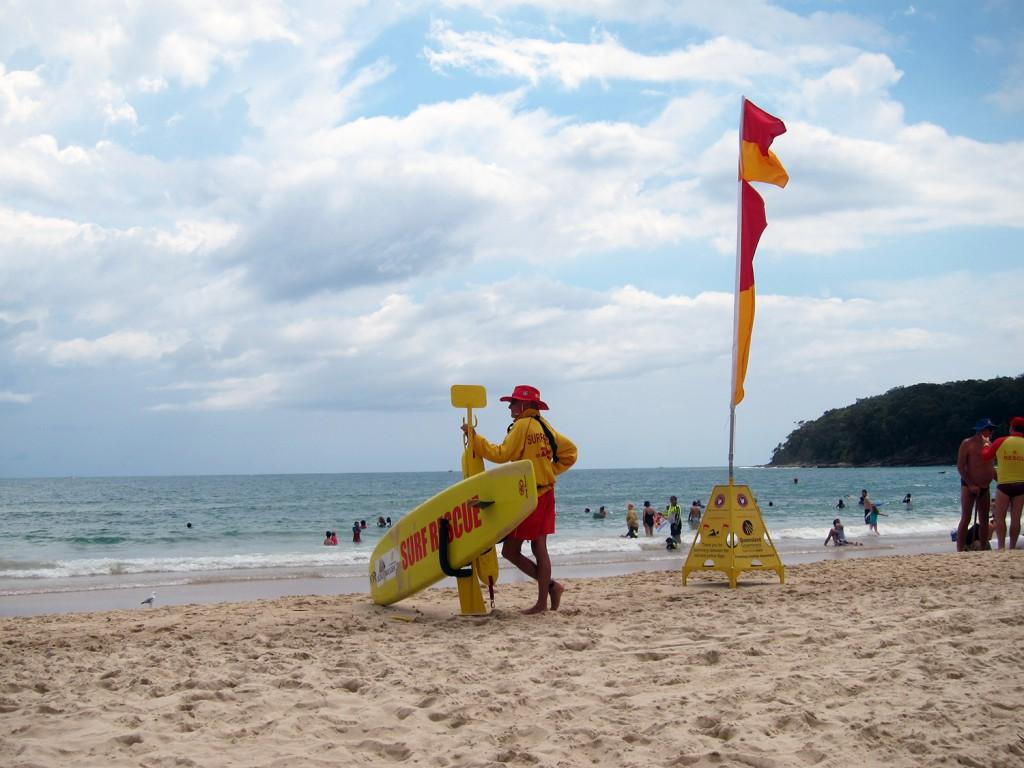 Lifeguards på Noosa beach