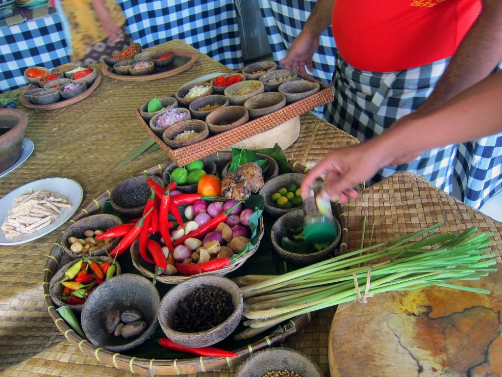 Alla ingredienser var färska och från Bali. Så fräscht!